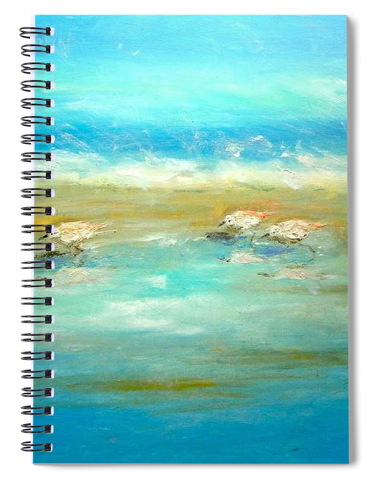 Pipers Spiral Notebook featuring the painting Pipers by Paul Emig