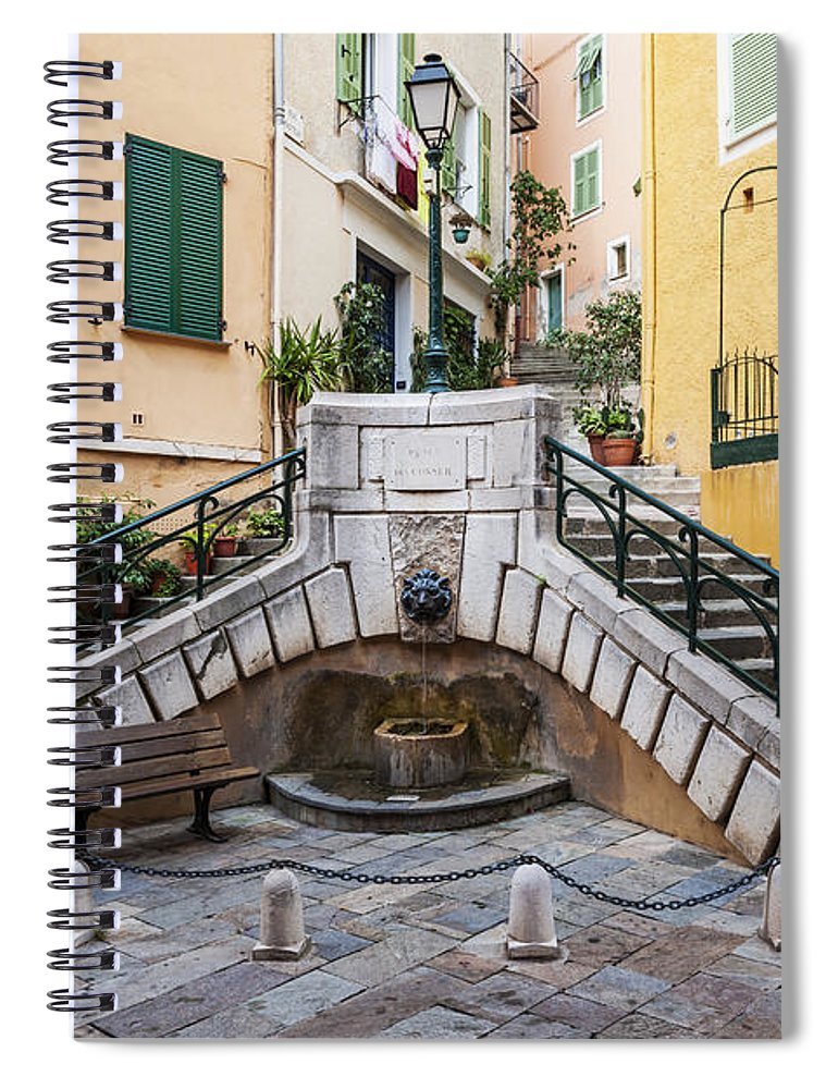Villefranche-sur-mer Spiral Notebook featuring the photograph Place Du Conseil In Villefranche-sur-mer by Elena Elisseeva