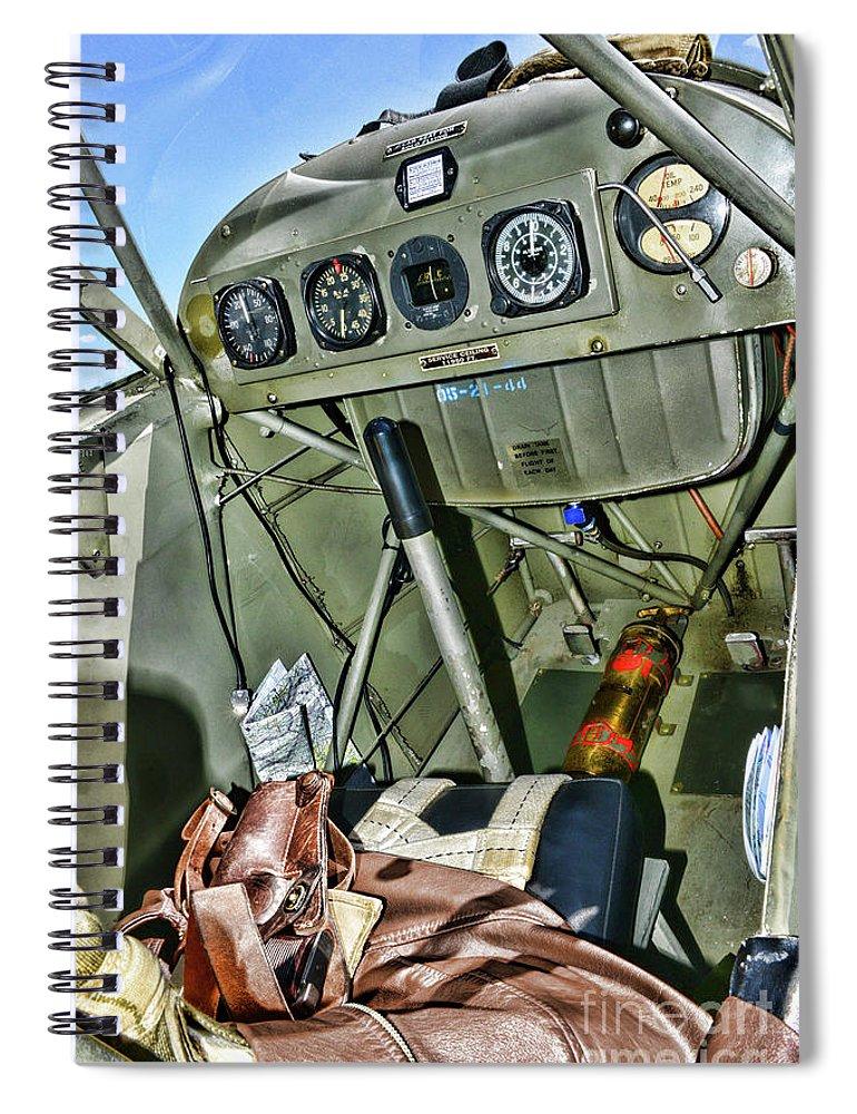 Plane-aeronca L-3 Grasshopper Cockpit Spiral Notebook
