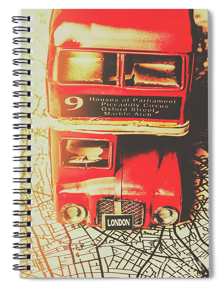 Street Spiral Notebook featuring the photograph Pommy Promenade by Jorgo Photography - Wall Art Gallery