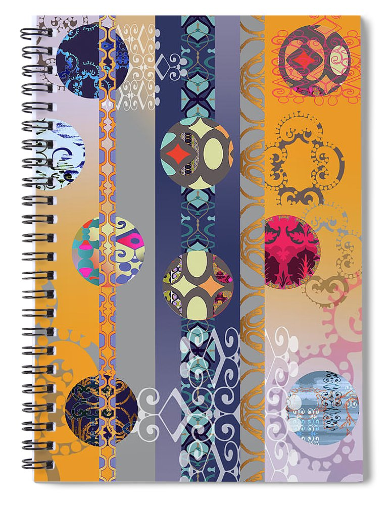 Digital Spiral Notebook featuring the digital art Pompoms 3 by Ceil Diskin