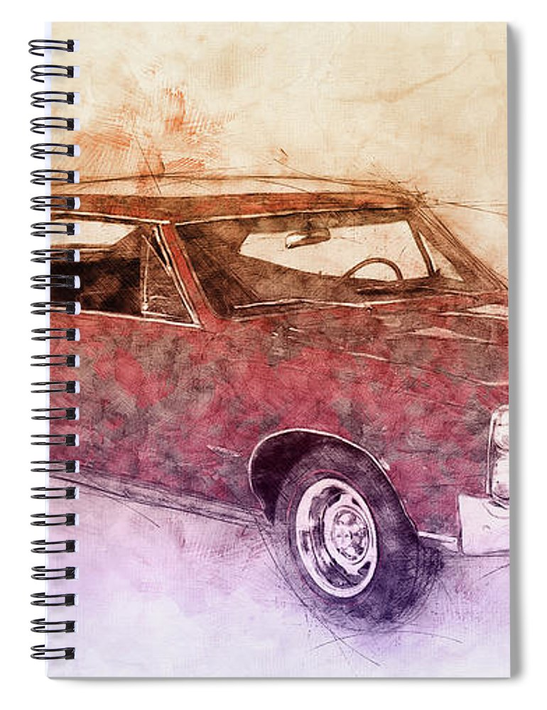 Pontiac Gto Spiral Notebook featuring the mixed media Pontiac Gto 3 - 1967 - Automotive Art - Car Posters by Studio Grafiikka