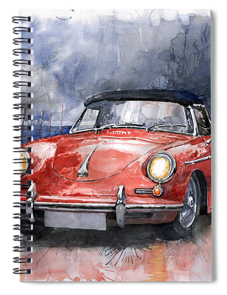 Auto Spiral Notebook featuring the painting Porsche 356 B Roadster by Yuriy Shevchuk