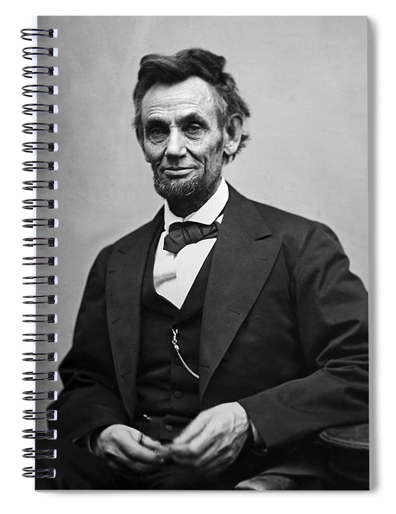 abraham Lincoln Spiral Notebook featuring the photograph Portrait of President Abraham Lincoln by International Images