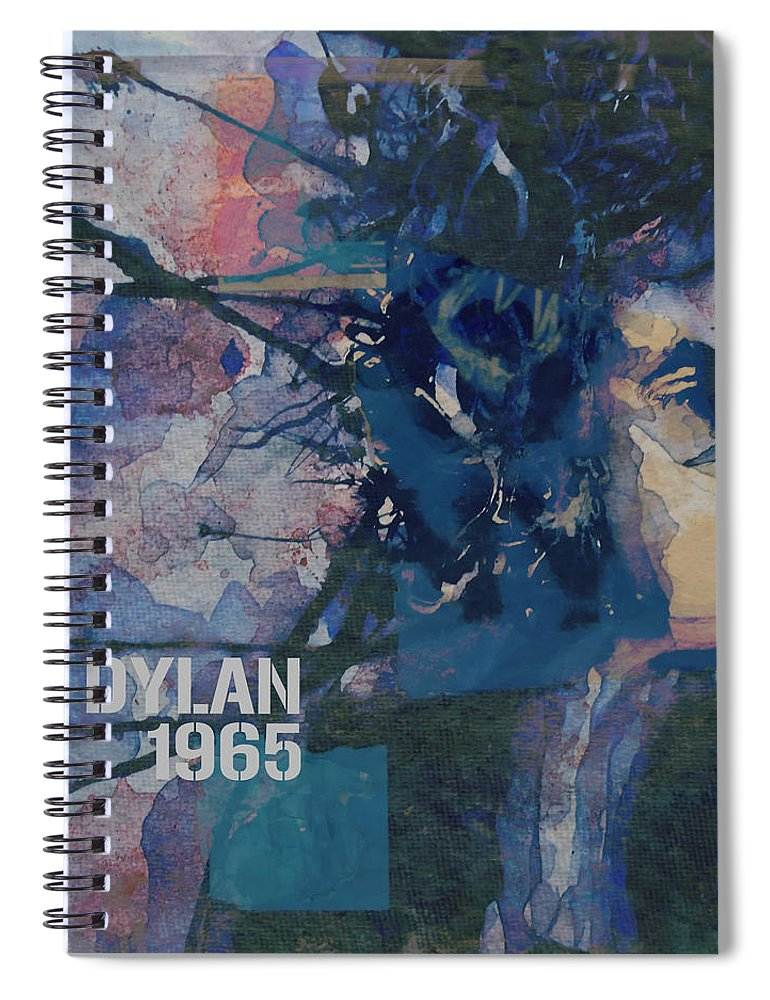 Bob Dylan Spiral Notebook featuring the painting Positively 4th Street by Paul Lovering