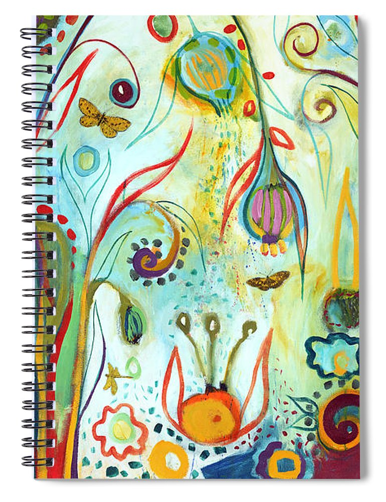 Garden Spiral Notebook featuring the painting Possibilities by Jennifer Lommers