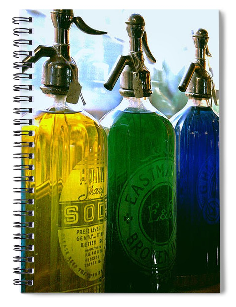 Food And Beverage Spiral Notebook featuring the photograph Pour Me a Rainbow by Holly Kempe