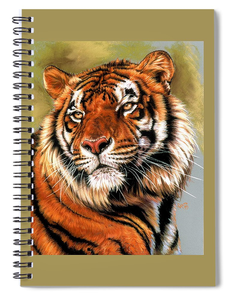 Tiger Spiral Notebook featuring the pastel Power and Grace by Barbara Keith