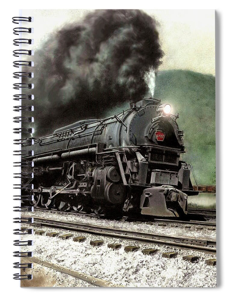 Spiral Notebook featuring the painting Power on the Curve by David Mittner