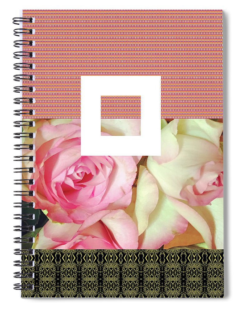 Roses Spiral Notebook featuring the digital art Pradada by Ceil Diskin