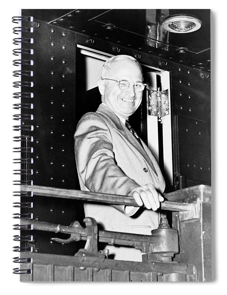 Harry Truman Spiral Notebook featuring the photograph President Harry Truman by War Is Hell Store