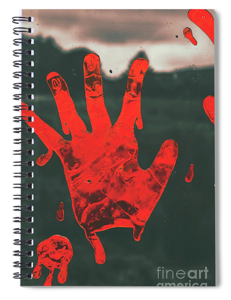 Fear Spiral Notebook featuring the photograph Pressing Terror by Jorgo Photography - Wall Art Gallery