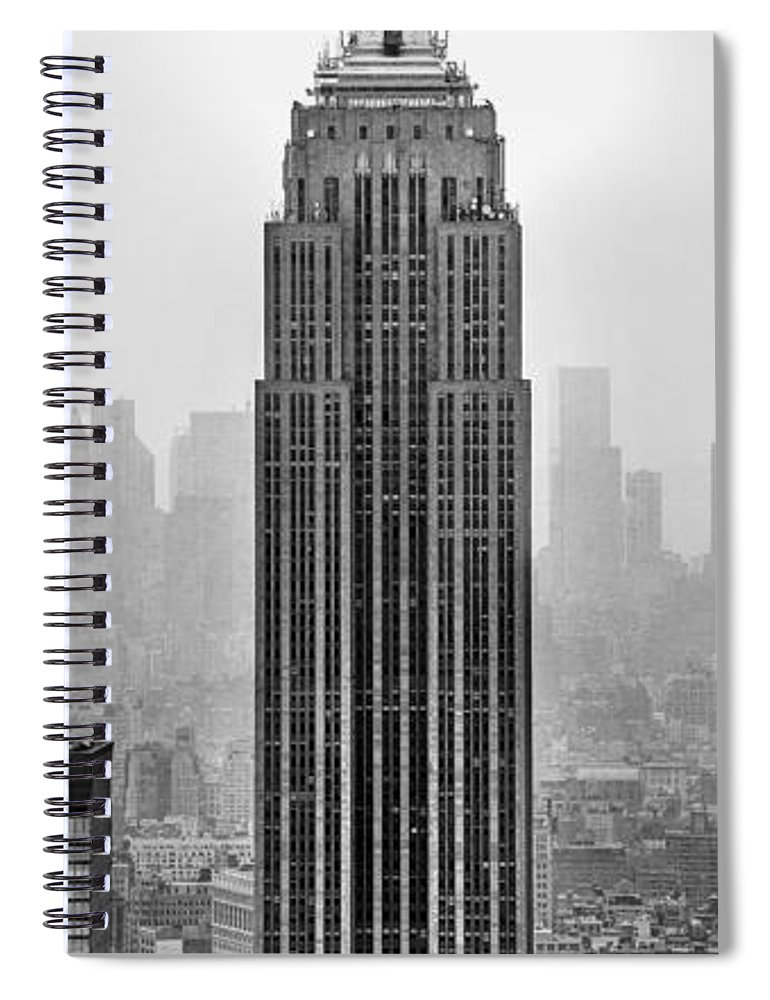 Empire State Building Spiral Notebook featuring the photograph Pride Of An Empire by Az Jackson