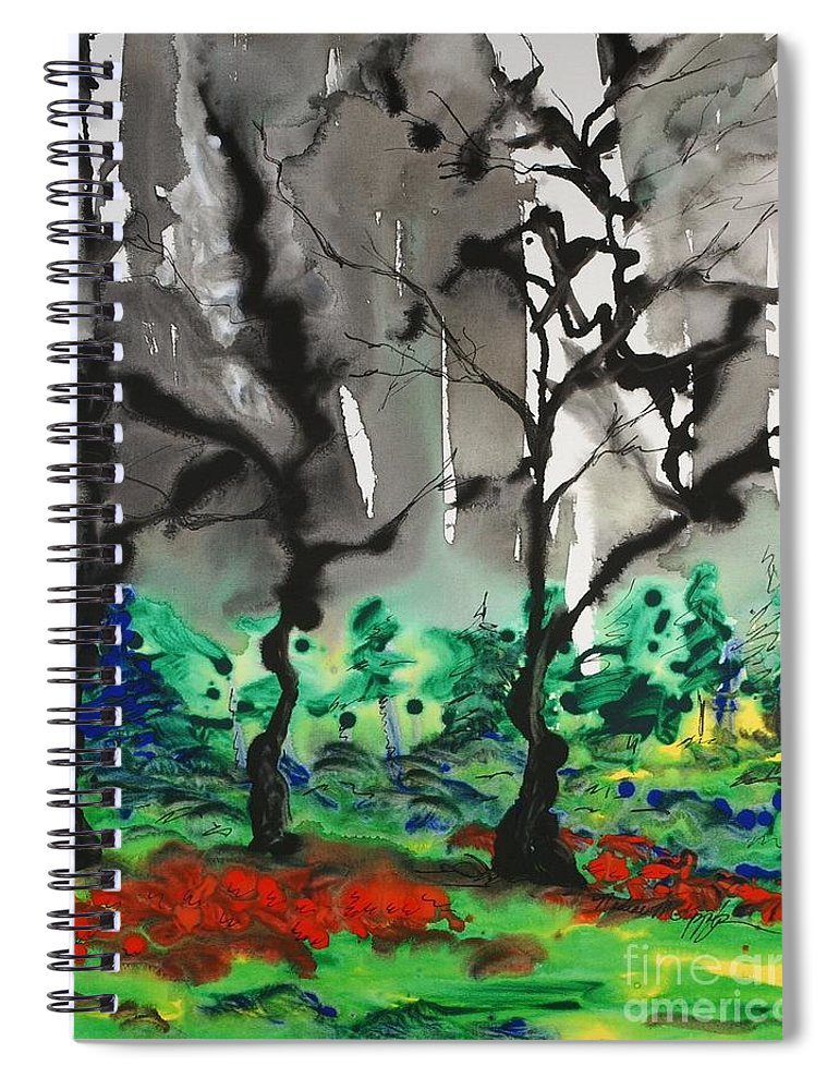 Forest Spiral Notebook featuring the painting Primary Forest by Nadine Rippelmeyer