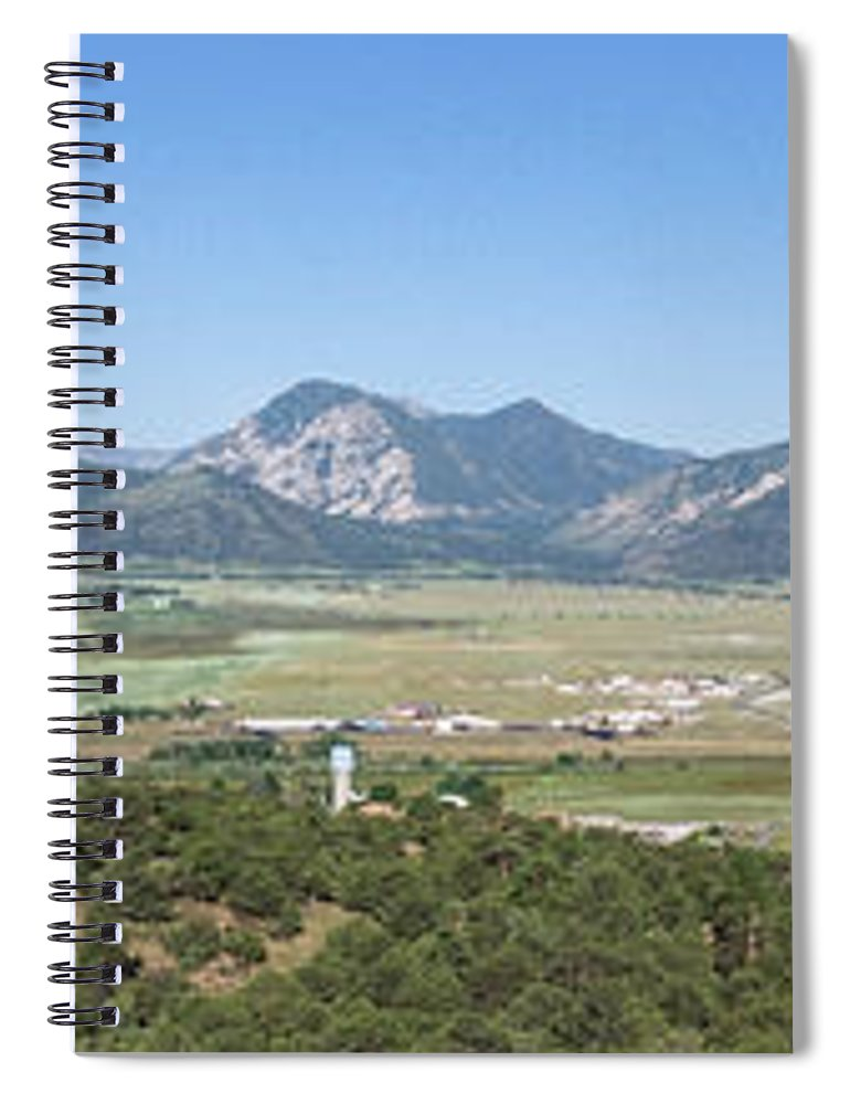 Spiral Notebook featuring the photograph Princeton Panorama 2 by Logan Myers