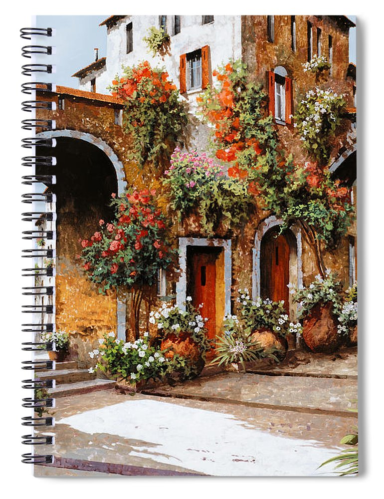 Landscape Spiral Notebook featuring the painting Profumi Di Paese by Guido Borelli