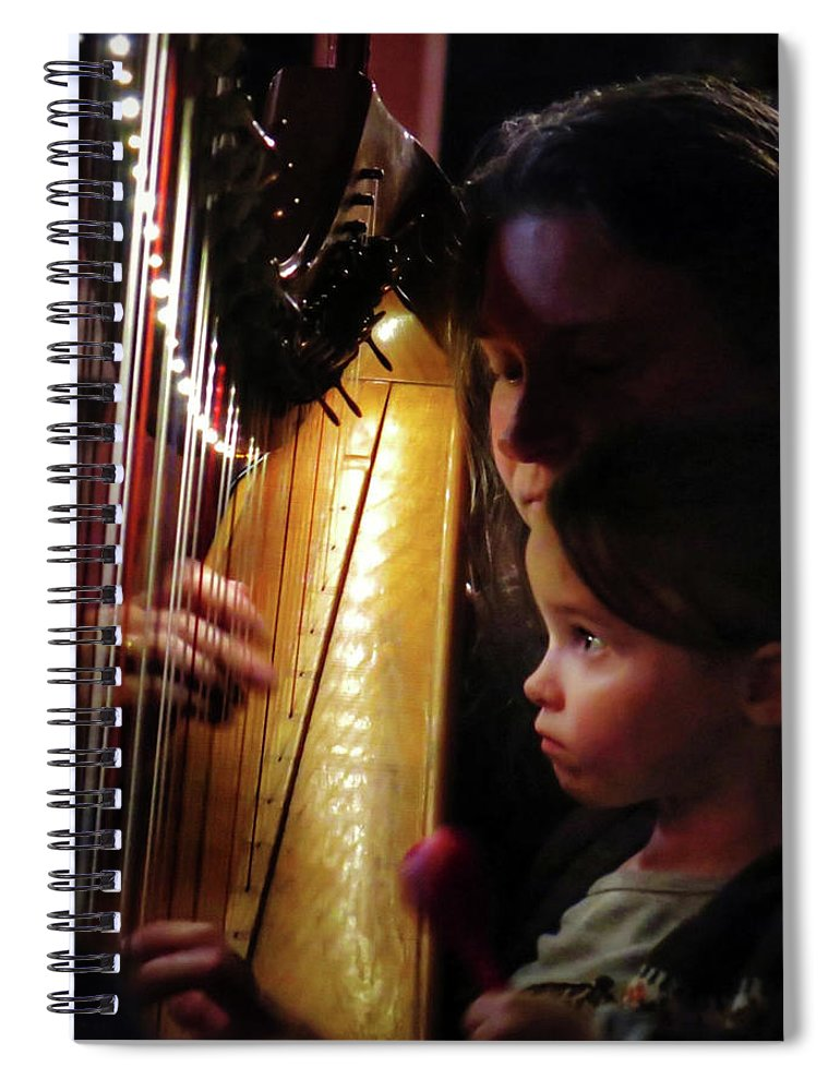 Irish Harp Kathleen Protege Spiral Notebook featuring the photograph Protege by Scott Waters