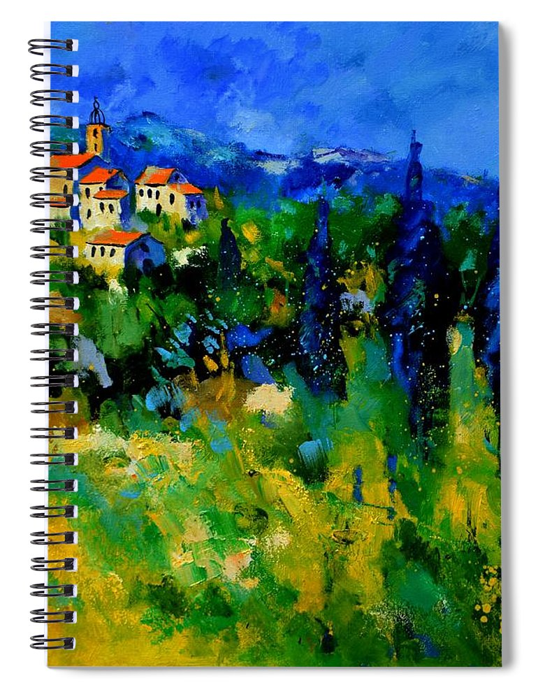 Landscape Spiral Notebook featuring the painting Provence 768110 by Pol Ledent