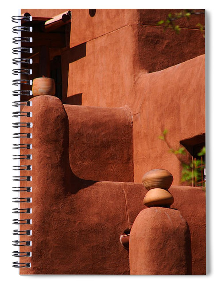 Pueblo Revival Style Architecture Spiral Notebook featuring the photograph Pueblo Revival Style Architecture II by Susanne Van Hulst