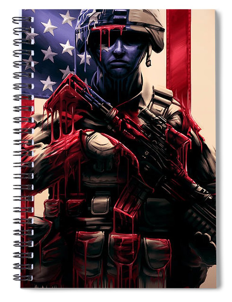 Usa Spiral Notebook featuring the digital art Pure Valor by Canvas Cultures