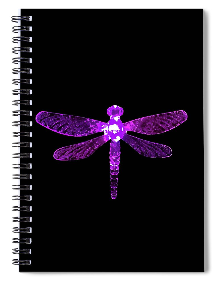 Purple Dragonfly Spiral Notebook