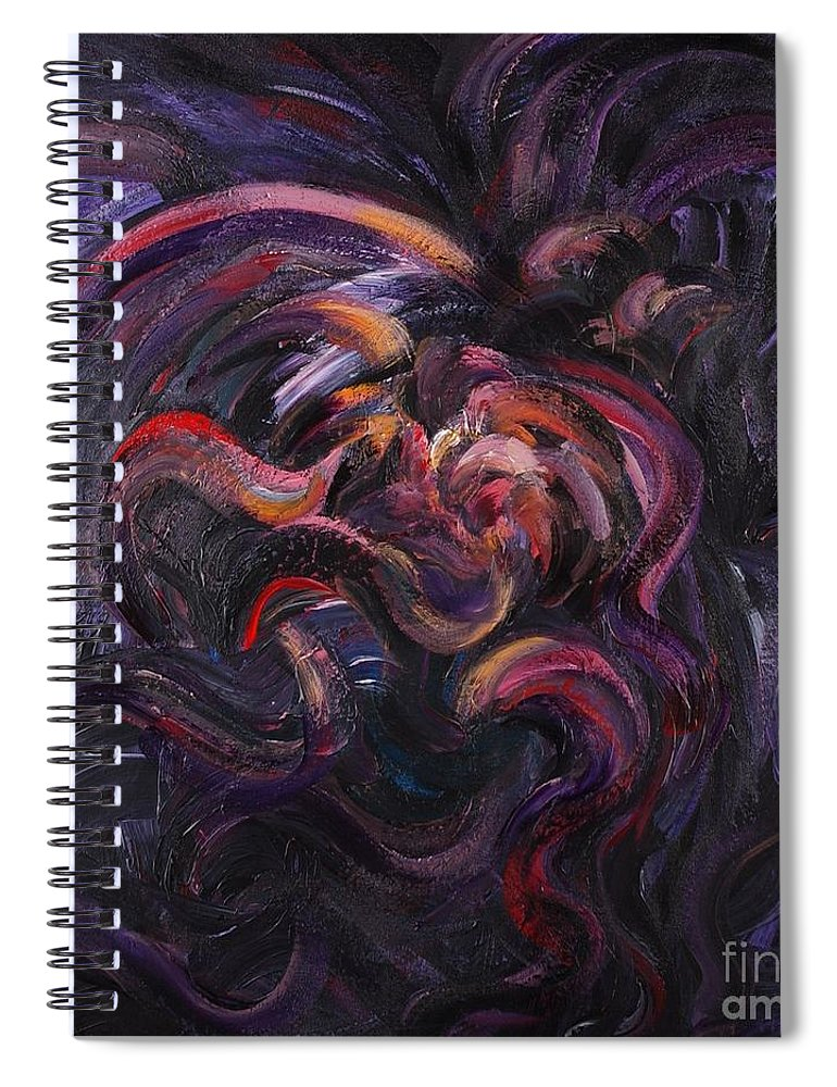 Purple Spiral Notebook featuring the painting Purple Passion by Nadine Rippelmeyer
