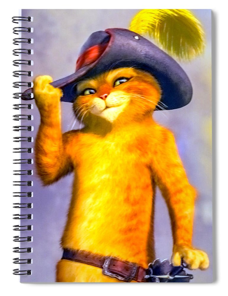 Puss In Boots Spiral Notebook featuring the photograph Puss In Boot by Jijo George