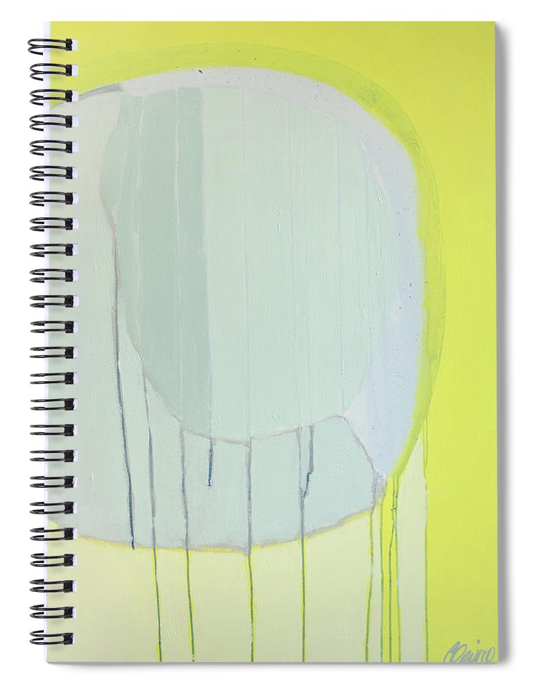 Abstract Spiral Notebook featuring the painting Quien Esta? by Claire Desjardins