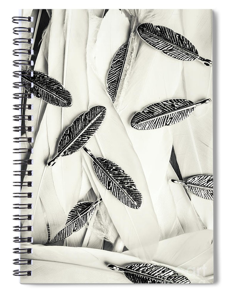 Feather Spiral Notebook featuring the photograph Quills Of A Feather by Jorgo Photography - Wall Art Gallery