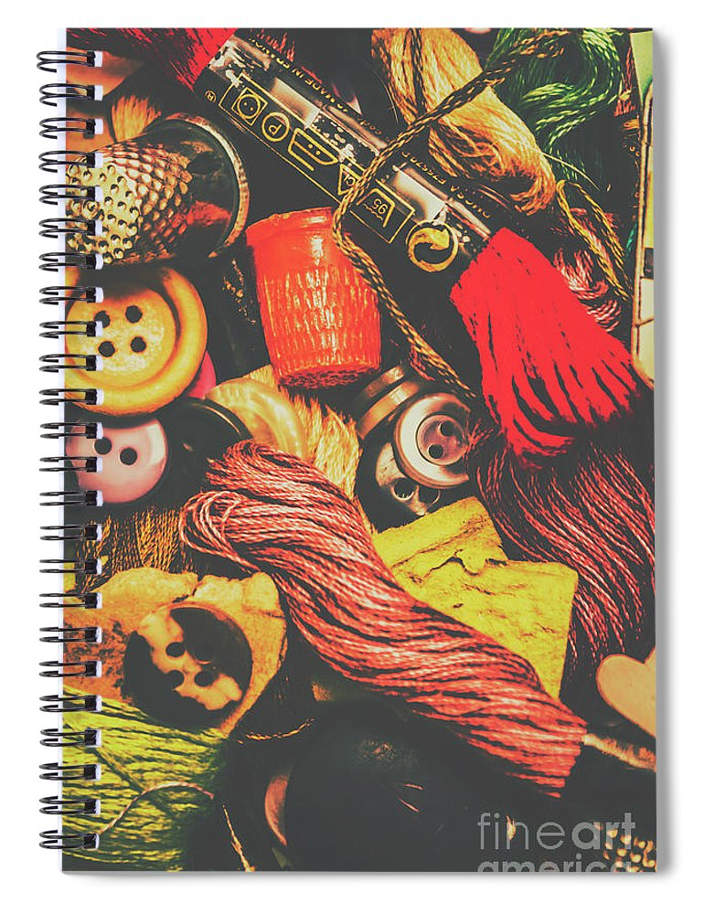Quilt Spiral Notebook featuring the photograph Quilting In Crochet by Jorgo Photography - Wall Art Gallery