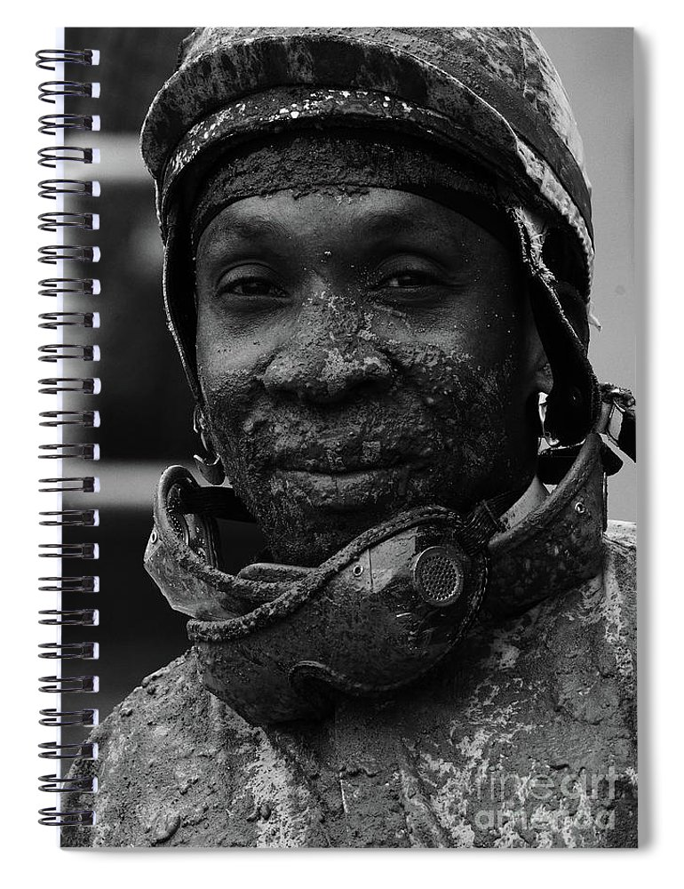 Jockey Spiral Notebook featuring the photograph Racetrack Heroes 8 by Bob Christopher