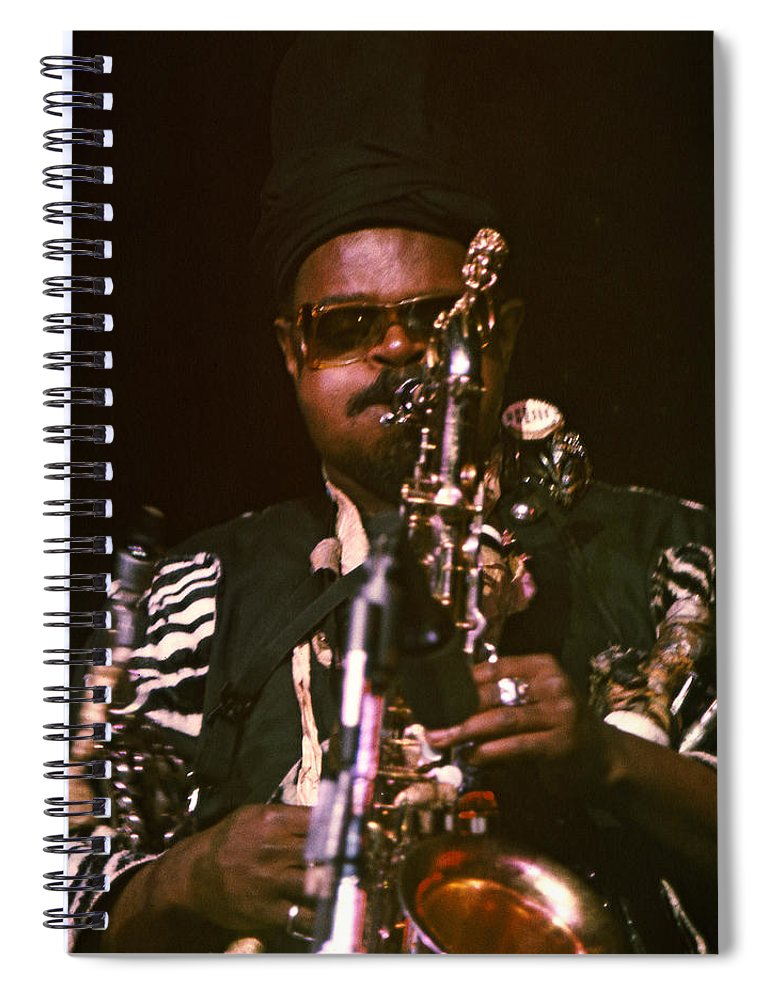 Rahsaan Roland Kirk Spiral Notebook featuring the photograph Rahsaan Roland Kirk 3 by Lee Santa