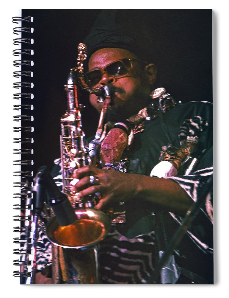 Rahsaan Roland Kirk Spiral Notebook featuring the photograph Rahsaan Roland Kirk 4 by Lee Santa
