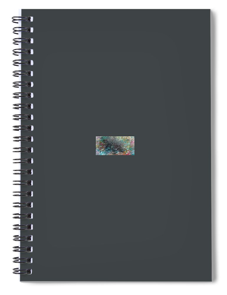 Original Abstract Painting Of Under The Sea Spiral Notebook featuring the painting Rainbow Reef by Karin Dawn Kelshall- Best