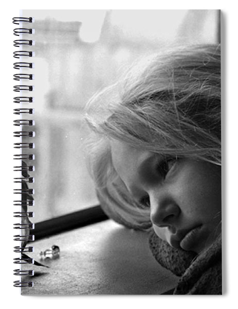 Sad Face Spiral Notebook featuring the photograph Rainy Day by Peter Piatt