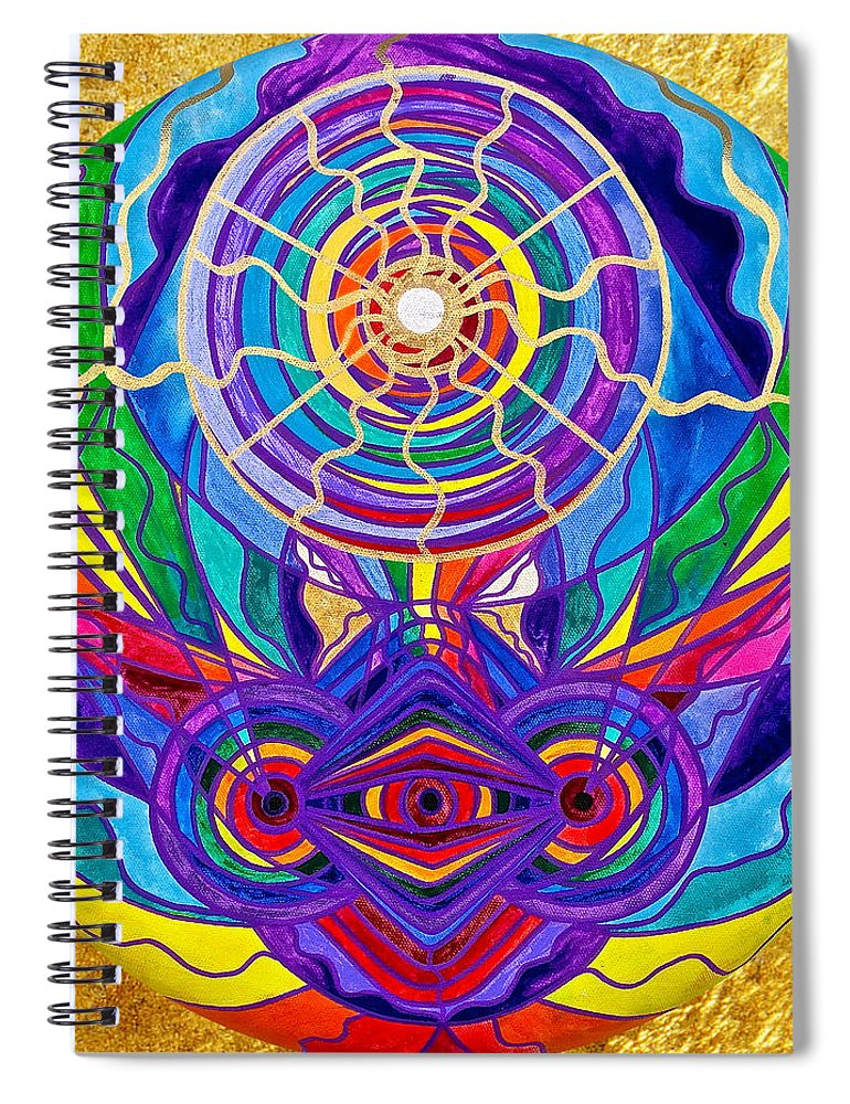 Vibration Spiral Notebook featuring the painting Raise Your Vibration by Teal Eye Print Store
