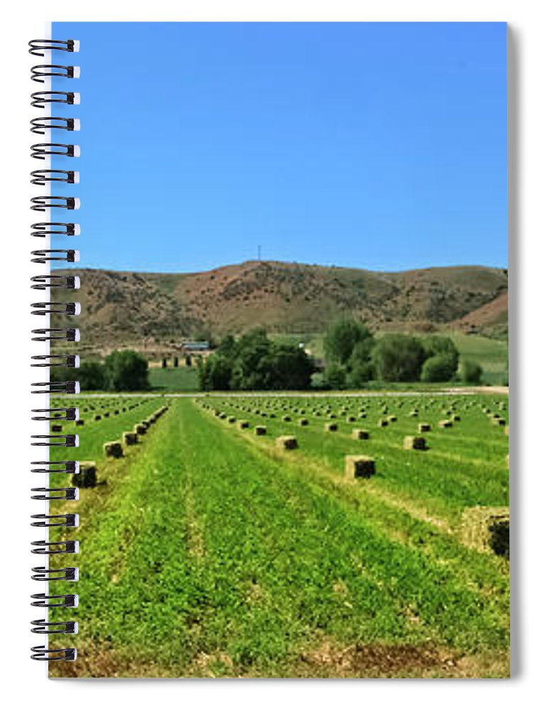 Farm Spiral Notebook featuring the photograph Ready To Be Picked Up by Robert Bales