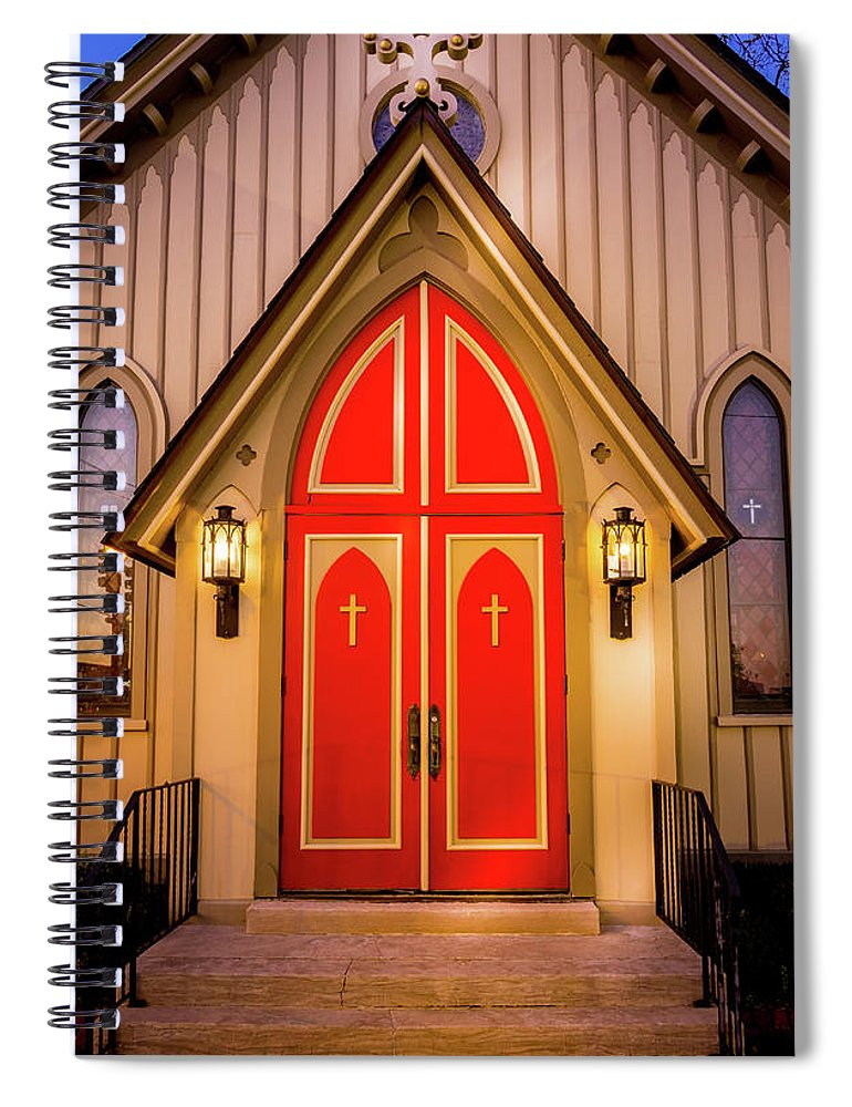 Church Spiral Notebook featuring the photograph Red Doors by Allin Sorenson