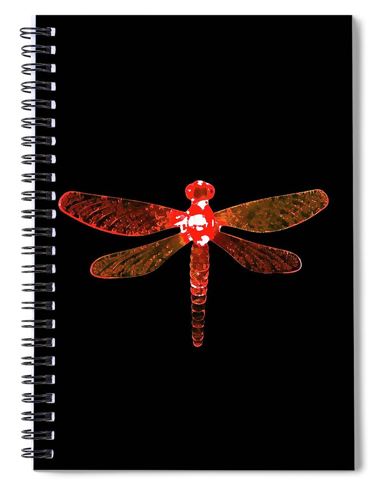 Red Dragonfly Spiral Notebook