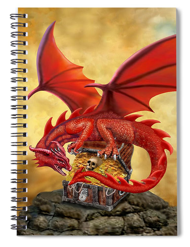Red Dragons Treasure Chest Spiral Notebook For Sale By Glenn Holbrook