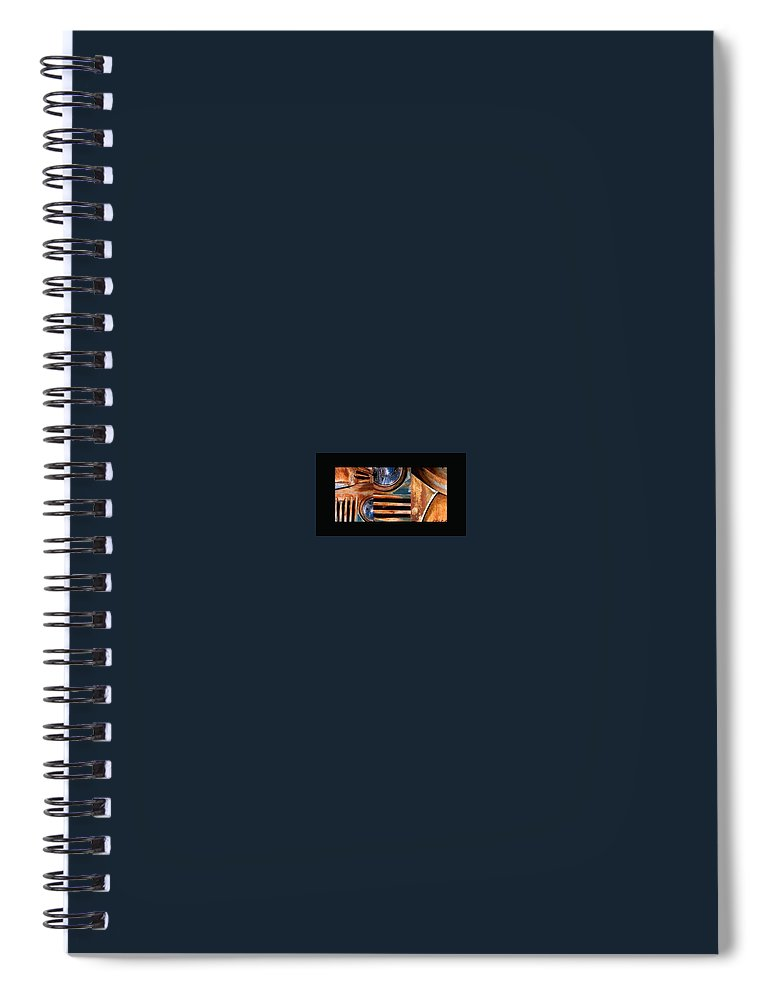 Abstract Photo Of Chevy Truck Spiral Notebook featuring the photograph Red Head On by Steve Karol
