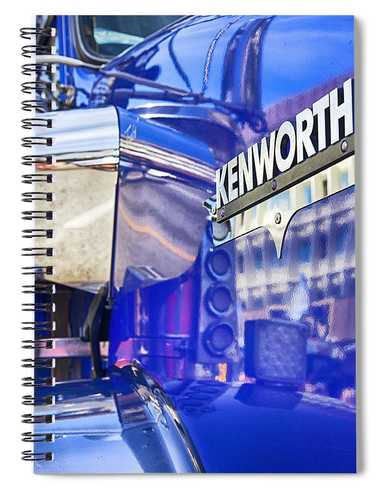 Kenworth Spiral Notebook featuring the photograph Reflecting On A Kenworth by Theresa Tahara