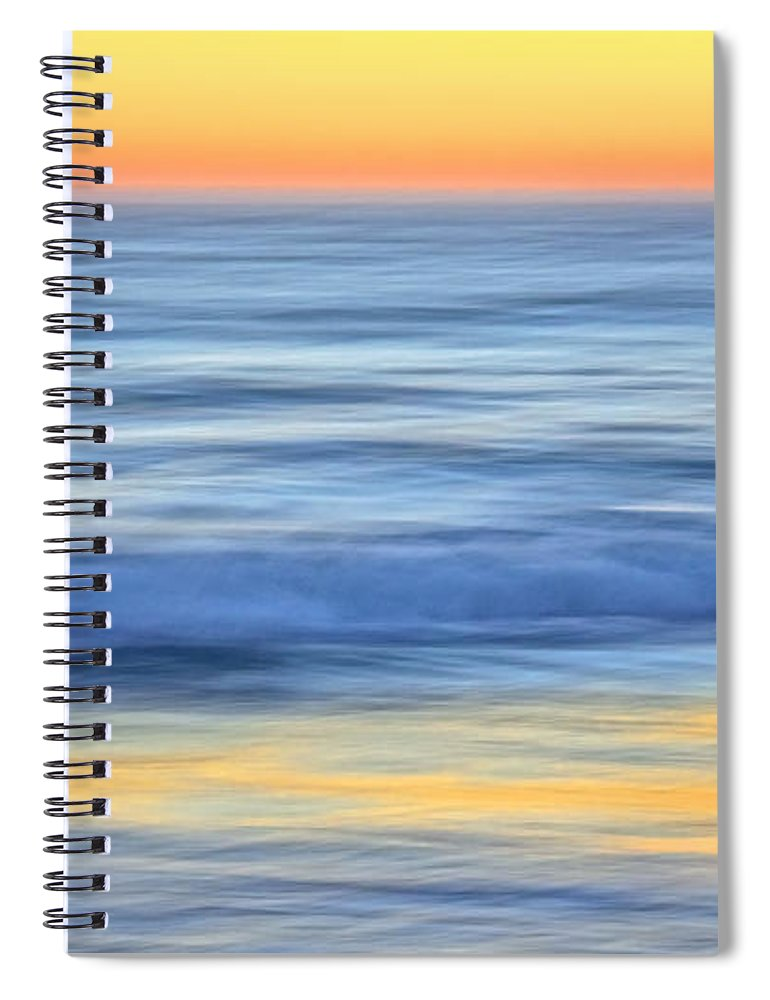 Nature Spiral Notebook featuring the photograph Reflection Gold by Zayne Diamond Photographic