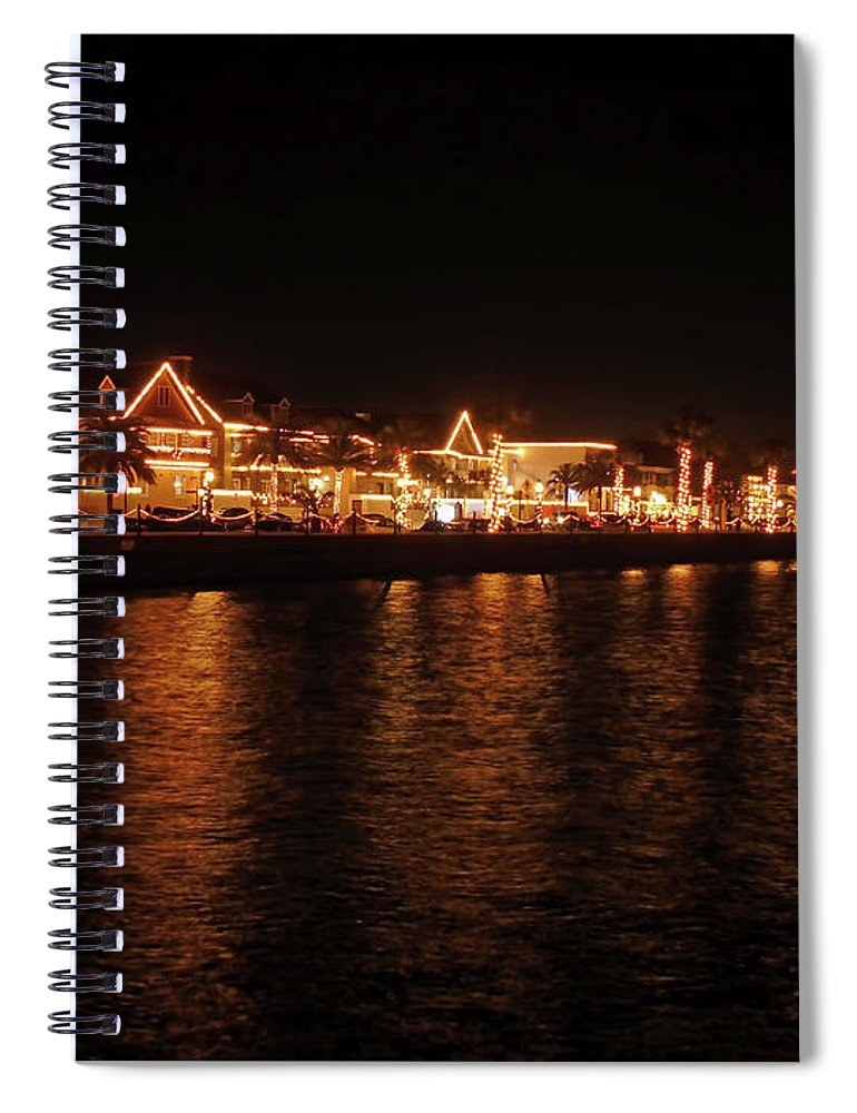 St Augustine Spiral Notebook featuring the photograph Reflections In The Bay by D Hackett