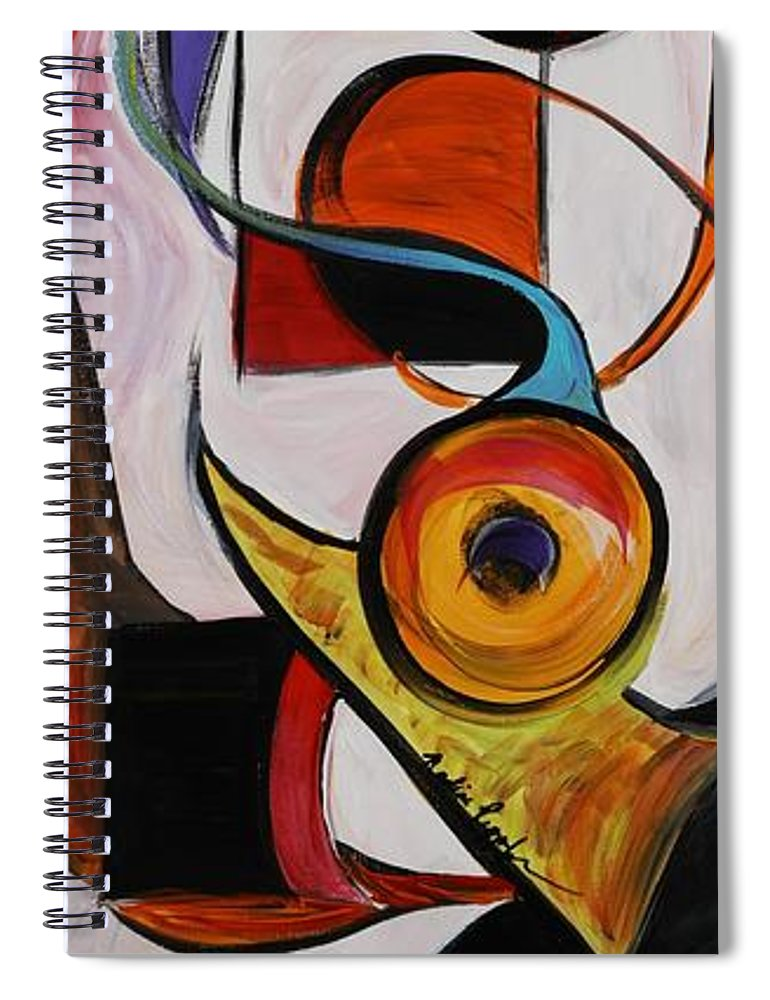 Shapes Spiral Notebook featuring the painting Relationships by Nadine Rippelmeyer