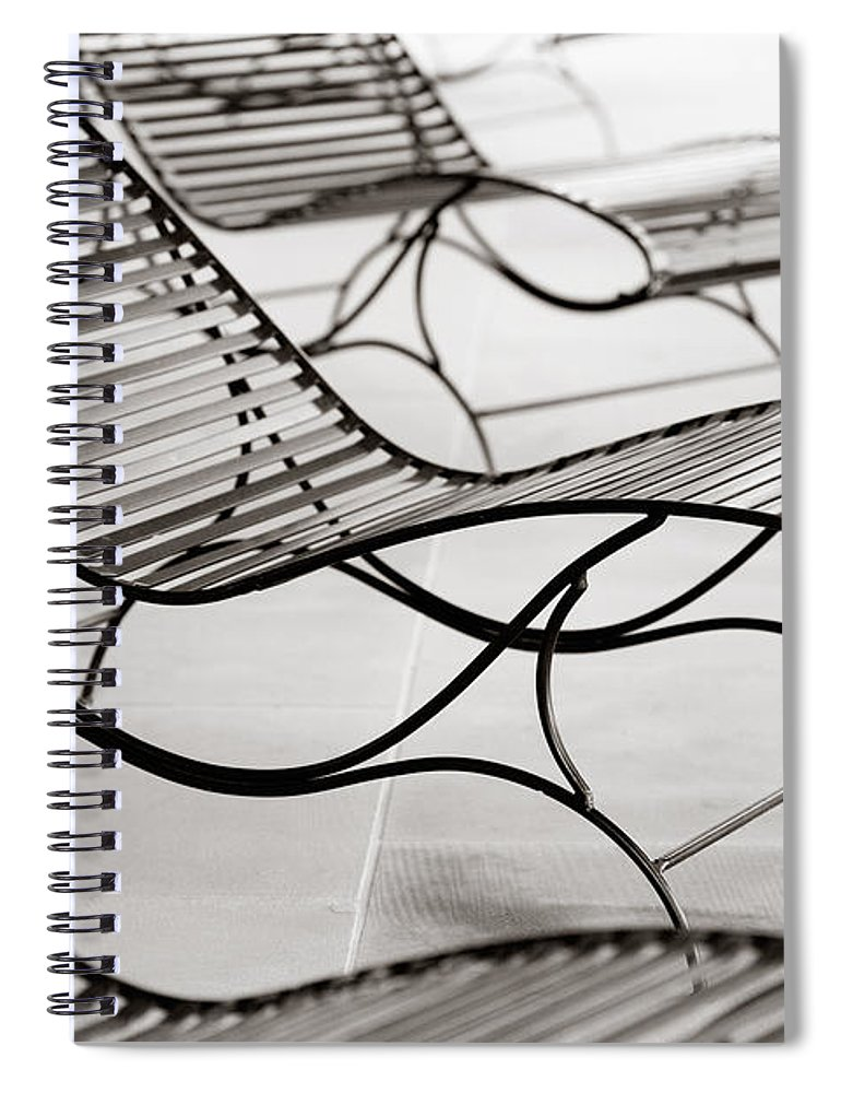 Chair Spiral Notebook featuring the photograph Relaxation by Marilyn Hunt