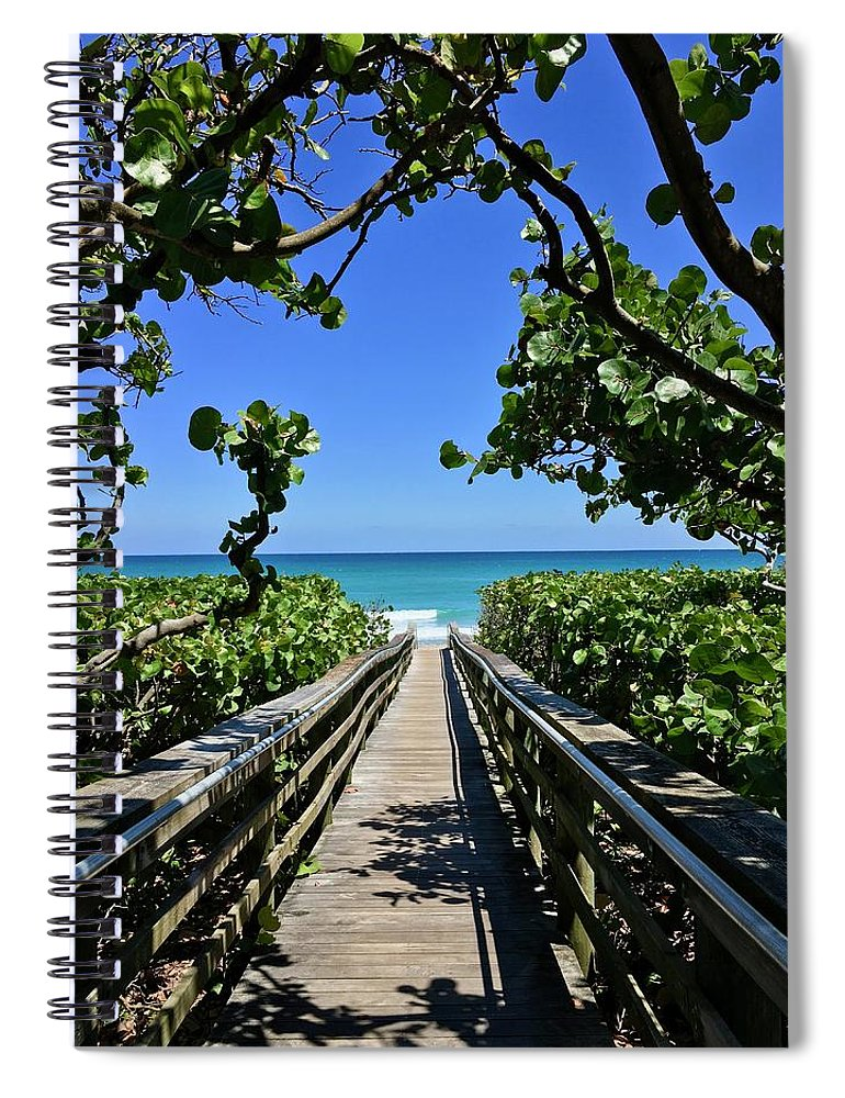 Ocean Spiral Notebook featuring the photograph Respite by Suzanne Udell Levinger