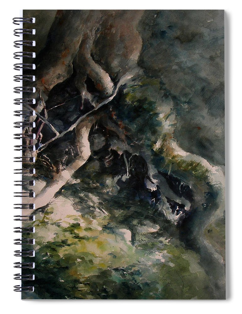 Nature Spiral Notebook featuring the painting Revealed by William Russell Nowicki