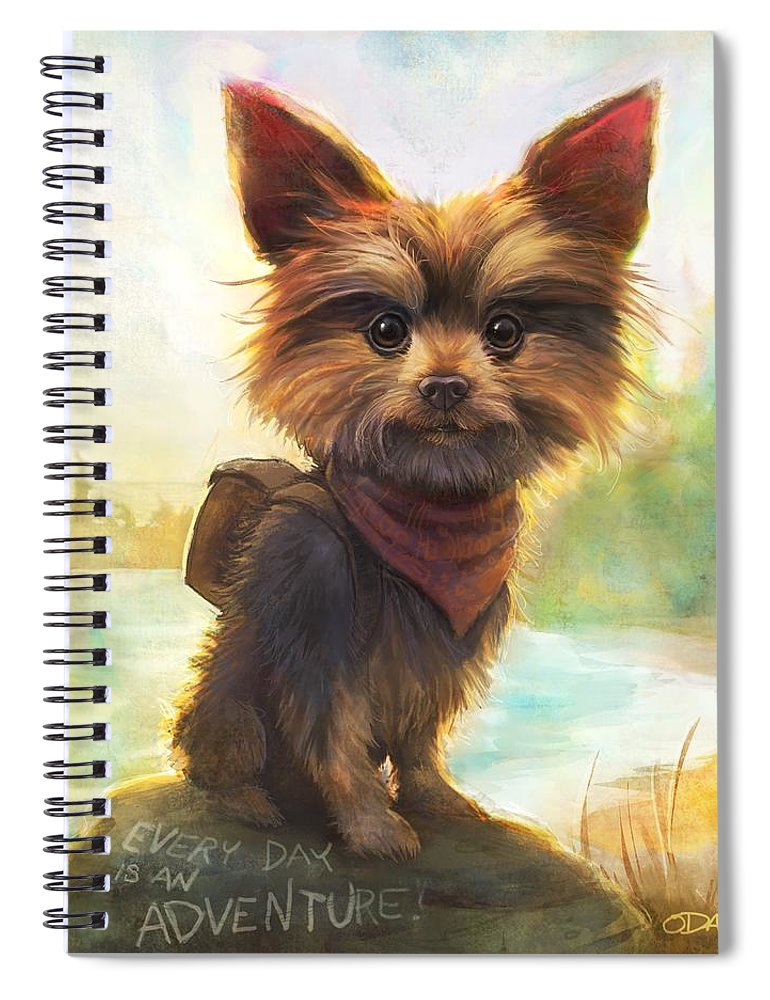 Dogs Spiral Notebook featuring the painting Rickey's Adventure by Sean ODaniels