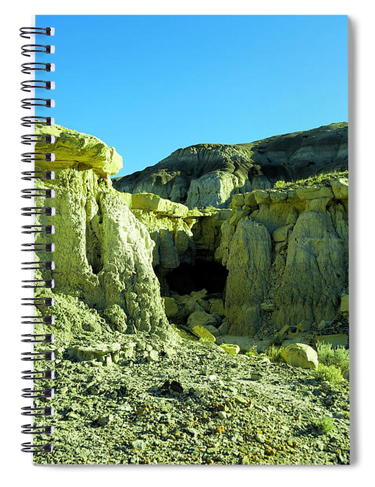 New Mexico Spiral Notebook featuring the photograph Rigid New Mexico by Jeff Swan